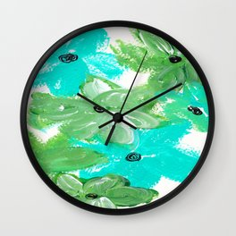 SHADES OF GREEN Wall Clock