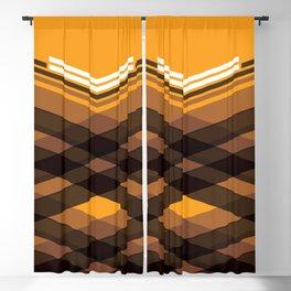 Brown Stripes Blackout Curtain