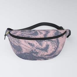 Tiger Pastel Color Graphic Fanny Pack