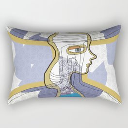 Girl Silhouette with Shapes III Rectangular Pillow