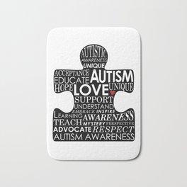 Autism Awareness Love Bath Mat