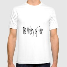 The Ministry of Fear MEDIUM White Mens Fitted Tee