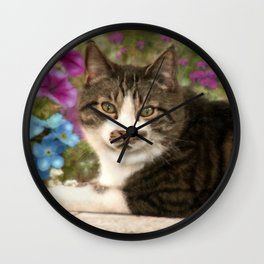 Enjoying the summer Wall Clock
