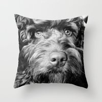 harry Throw Pillows featuring HARRY by PRE Media