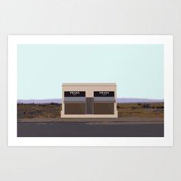 Marfa Installation: A digital illustration Art Print
