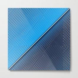 Abstract blue metallic gradient texture Metal Print