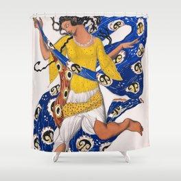 12,000pixel-500dpi - Leon Bakst - The Butterfly, Costume Design for Anna Pavlova Shower Curtain