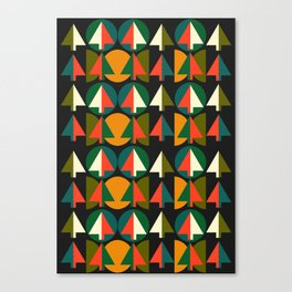 Retro Christmas trees Canvas Print