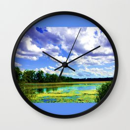Lake Wingra, Wisconsin Wall Clock