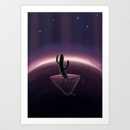 Space Cactus Art Print