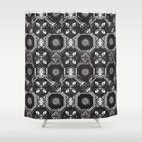 spain Shower Curtains featuring Pattern - Spain by Ryan Tomkinson