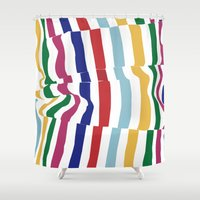 fabric Shower Curtains featuring wrinkled fabric by studiomarshallarts