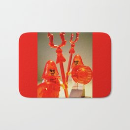 Ching Dynasty Chinese Warrior Custom LEGO Minifigure with Trans Orange Armour by Chillee Wilson Bath Mat