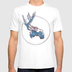Deer Skull MEDIUM White Mens Fitted Tee
