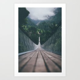 Crossing bridges. Art Print