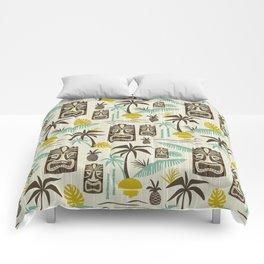 Island Tiki - Tan Comforters