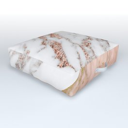 Marble rose gold blended Outdoor Floor Cushion