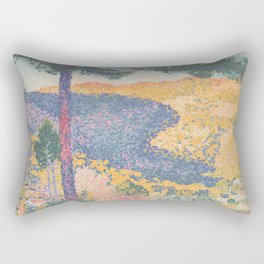 Valley with Fir (Shade on the Mountain) by Henri-Edmond Cross1909, French Rectangular Pillow