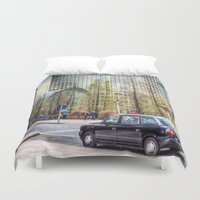 "taxi driver Duvet Covers featuring  "" Taxi "" !!! by David Pyatt"