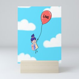 Love is Up Above Mini Art Print