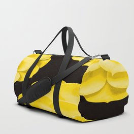Large Yellow Succulent On Black Background #decor #society6 #buyart Duffle Bag