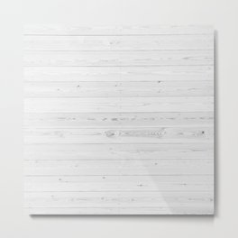 WHITEWASHED PINE Metal Print
