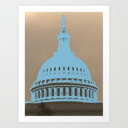 Capitol Building dome, Washigton DC, Let freedom ring - USA Art Print
