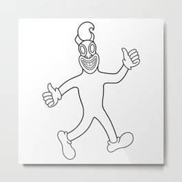 Happydays walking Metal Print