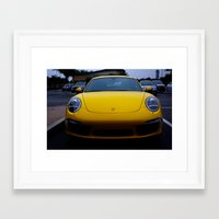porsche Framed Art Prints featuring Porsche by Matthew Soto