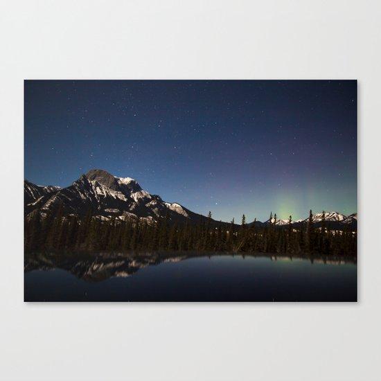 Northern lights #photography Canvas Print