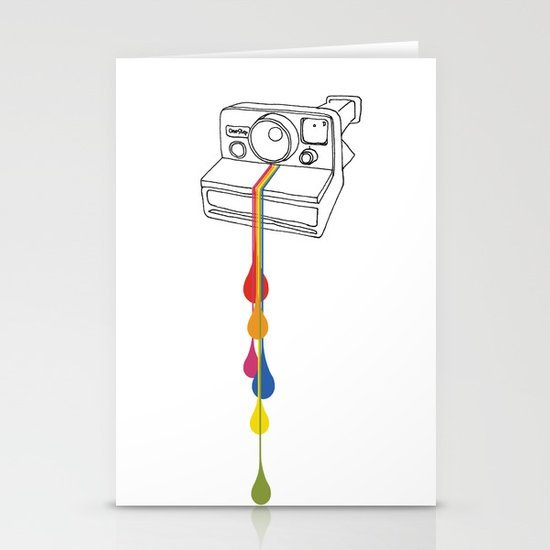 Polaroid Drips Stationery Cards