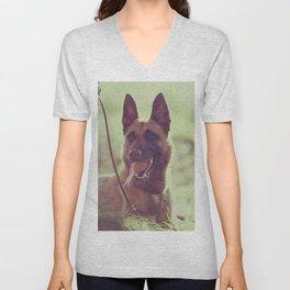 Malinios Beauty dog picture Unisex V-Neck