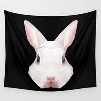 rabbit Wall Tapestries featuring Rabbit by Taranta Babu