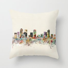denver colorado skyline Throw Pillow