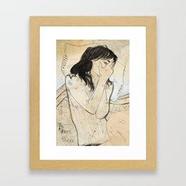 there there Framed Art Print