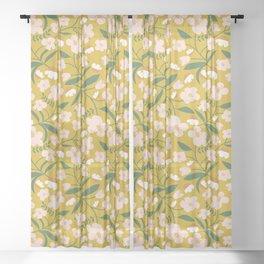 Vintage Inspired Floral Sheer Curtain