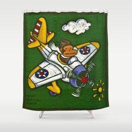 Airplane Ape Shower Curtain