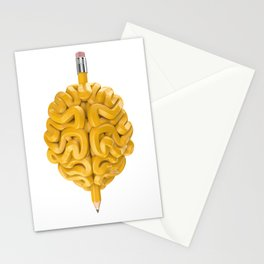 Pencil Brain Stationery Cards