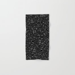 All Tech Line INVERTED / Highly detailed computer circuit board pattern Hand & Bath Towel