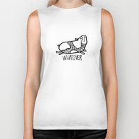 whatever Biker Tanks featuring whatever by Pardabon