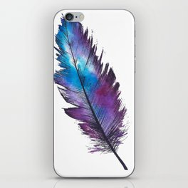 Purple Feather iPhone Skin