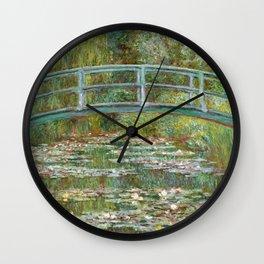 "Claude Monet ""Bridge over a Pond of Water Lilies"" Wall Clock"