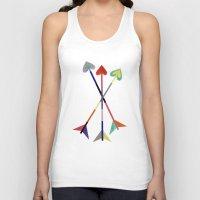 arrows Tank Tops featuring Arrows by Bridget Davidson
