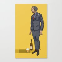 crowley Canvas Prints featuring crowley by publicserviceannouncement