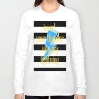 lightning Long Sleeve T-shirts featuring lightning by Cocoesq.