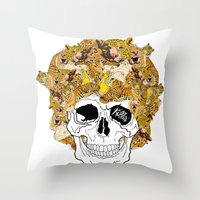 afro Throw Pillows featuring Afro by dogooder