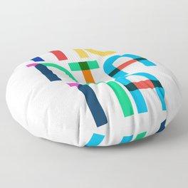 Montana State Mid Century, Pop Art Mondrian Floor Pillow