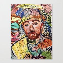 KIDS,colourful,colorful,poster,wall art, fan art,music,hiphop,rap,rip,rapper,legend,best day ever Canvas Print