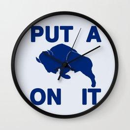 Put a Buffalo On It Wall Clock