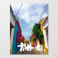 C for Cartagena Fun Cut Out Cartagena Street Print Canvas Print